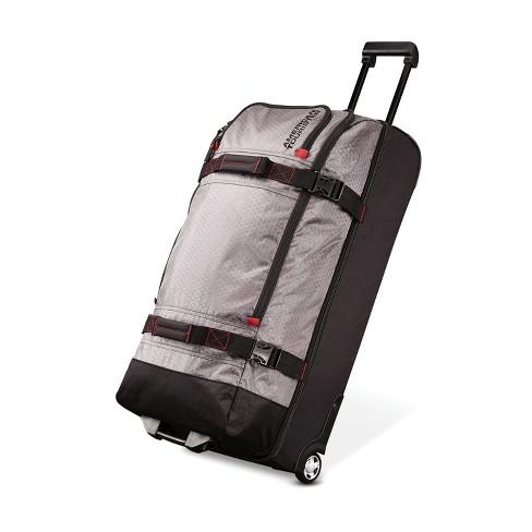 American Tourister 30 Aeropack Wheeled Duffel Bag Charcoal Red
