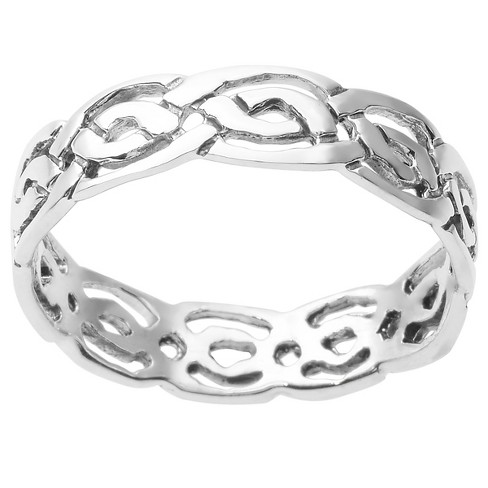 Women's Journee Collection Interlocking Band in Sterling Silver - Silver - image 1 of 2