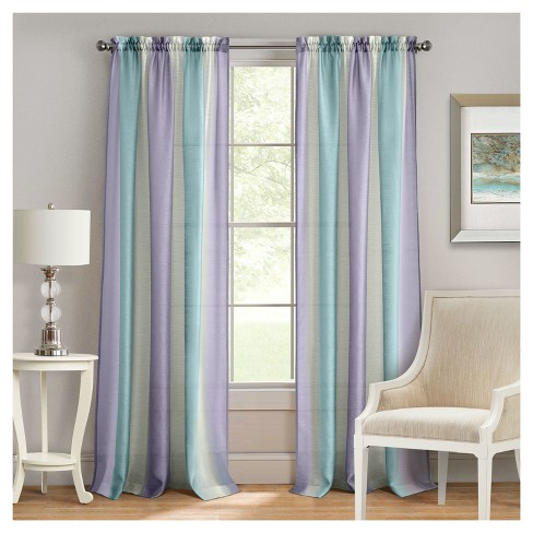 Spectrum Rod Pocket Window Curtain Panel - Achim - image 1 of 3