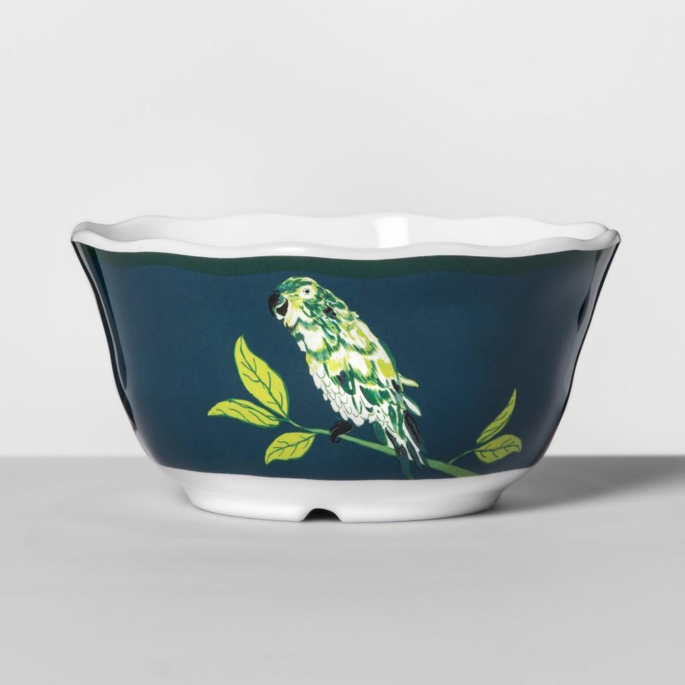 Melamine Bowl 24oz Blue/Green Parrot - Opalhouse