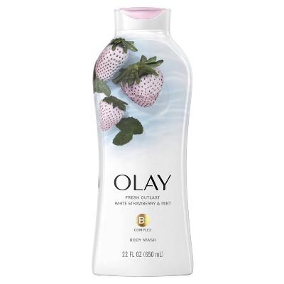 Olay Fresh Outlast Body Wash White Strawberry & Mint - 22 Fl Oz