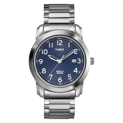 Men's Timex Expansion Band Watch - Silver/Blue T2P132JT