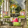 2pk Lanova Palm Wicker Outdoor Seat Cushions Green - Pillow Perfect - image 2 of 3