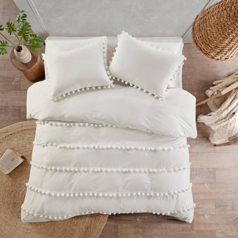 Elly Pom Pom Cotton Comforter Set - image 1 of 4