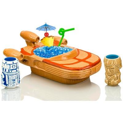 Beeline Creative Geeki Tikis Star Wars Landspeeder Punch Bowl with Luke and R2-D2 Mini Muglets