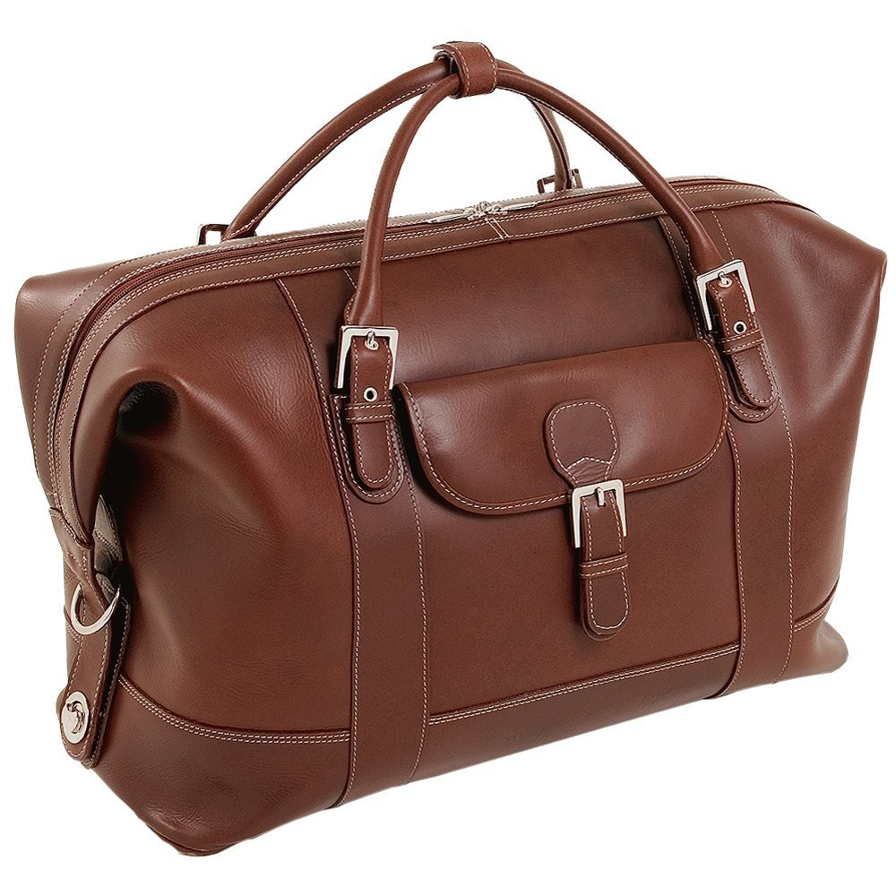 Siamod Amore Leather Duffel Bag (Cognac (Red))