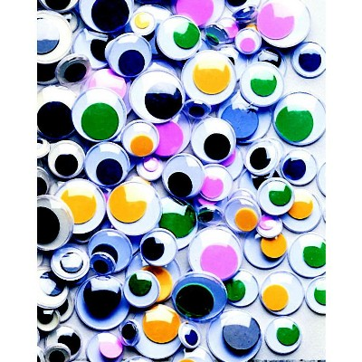 Creativity Street Round Wiggle Eyes, Assorted Size, Assorted on White, set of 500