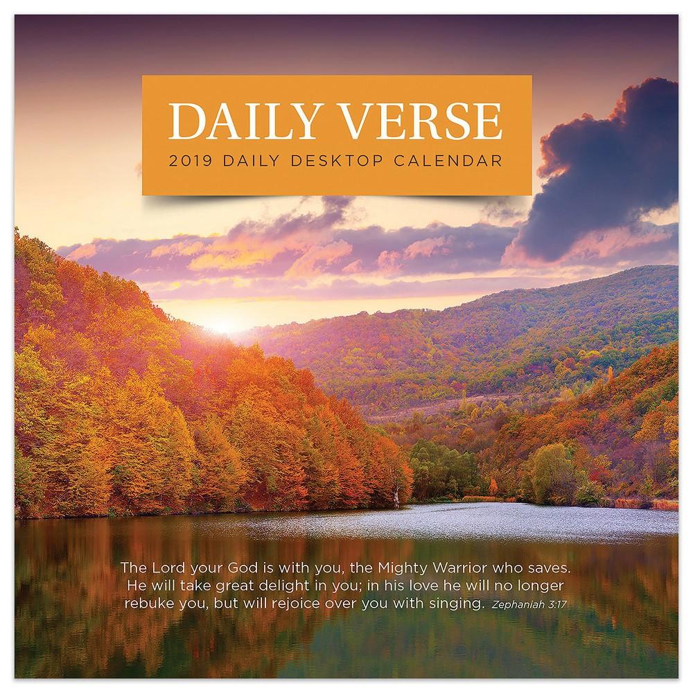 2019 Tented Desktop Calendar Daily Bible Verse - TF Publishing, 2019 Tf Publishing Daily Verse Daily Desk Calendar