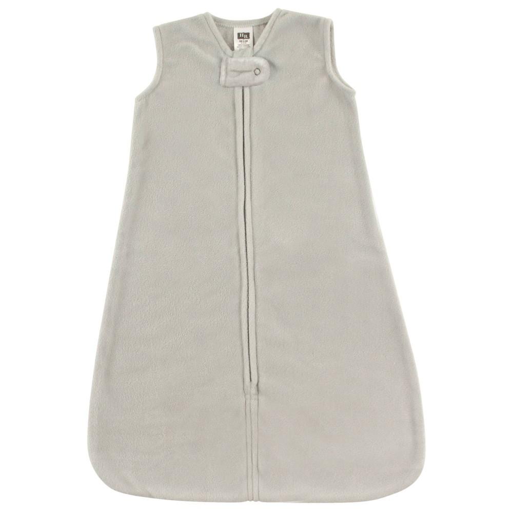 Hudson Baby Unisex Baby Plush Sleeping Bag Sack Blanket Solid Light Gray Fleece 12 18 Months