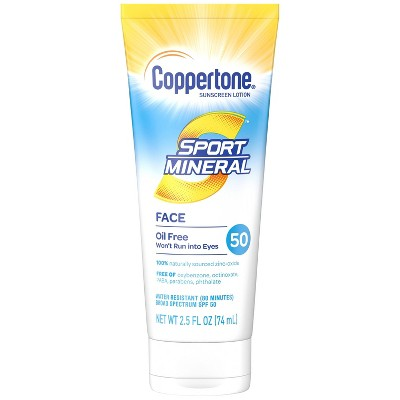 Coppertone Sport Mineral Sunscreen Face Lotion - SPF 50 - 2.5 fl oz
