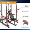 Marcy Pro Smith Machine Weight Bench Home Gym Total Body Workout Training System - image 4 of 4