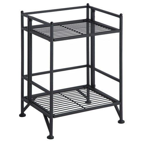 "20.5"" 2 Tier Folding Metal Shelf - Convenience Concepts - image 1 of 4"