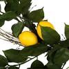 "Artificial Salal Leaf/Lemon Wreath (24"") Yellow - Vickerman - image 2 of 4"