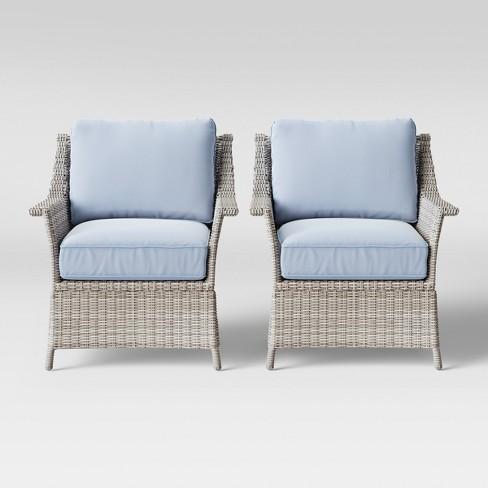 Bar Harbor 2pk Patio Club Chair - Threshold™ - image 1 of 4