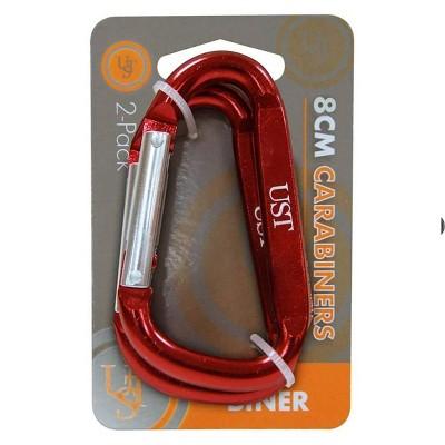 UST 8cm PDQ Carabiner - 2pk