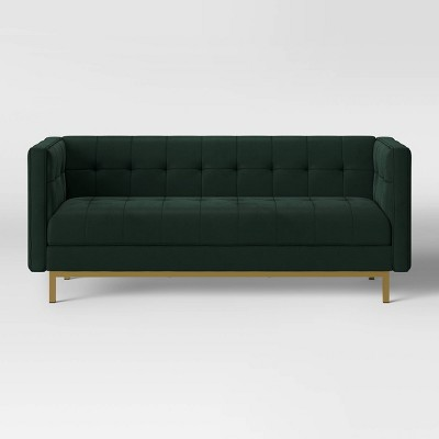 Cologne Tufted Track Arm Sofa Emerald Green - Project 62™