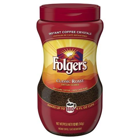 Folgers Classic Medium Roast Instant Coffee 12oz Target