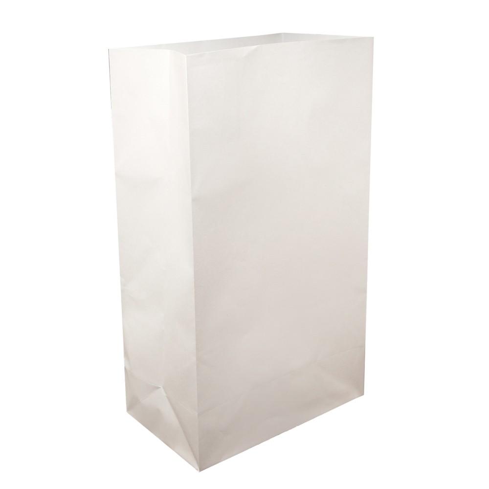 Image of 24ct Paper Luminaria Bags White - LumaBase