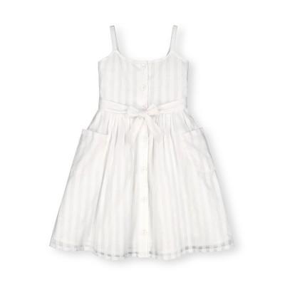 Hope & Henry Girls' Sleeveless Button Front Sun Dress, Kids