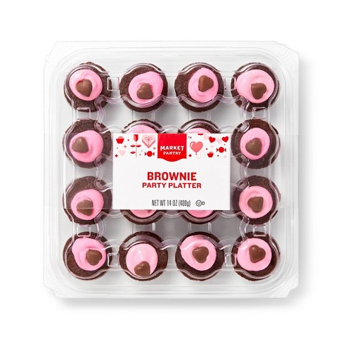 Valentine's Day Brownie Party Platter - 6ct/14oz - Market Pantry™ - image 1 of 4