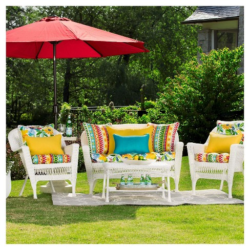 Pillow Perfect Cotrell Garden Outdoor Cushion Set Multi Colored Target