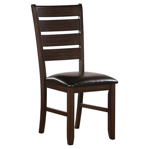 Urbana Side Dining Chair Wood/Espresso/Black (Set of 2) - Acme - image 1 of 1