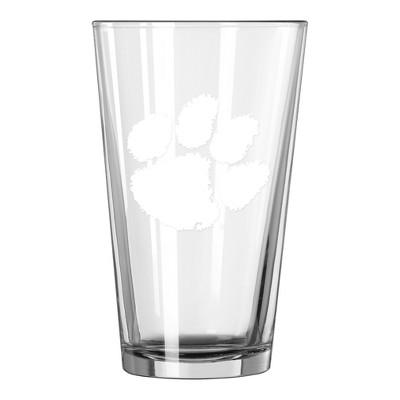 NCAA Clemson Tigers Single Boxed Pint Glass - 16oz