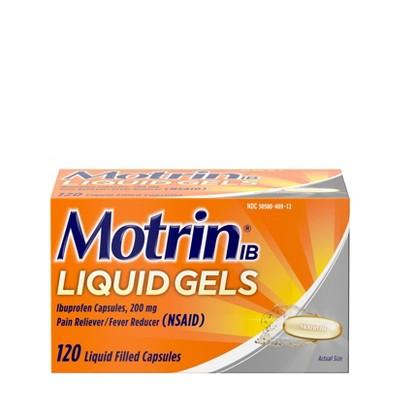 Motrin IB Pain Reliever & Fever Reducer Liquid Gels - Ibuprofen (NSAID) - 120ct