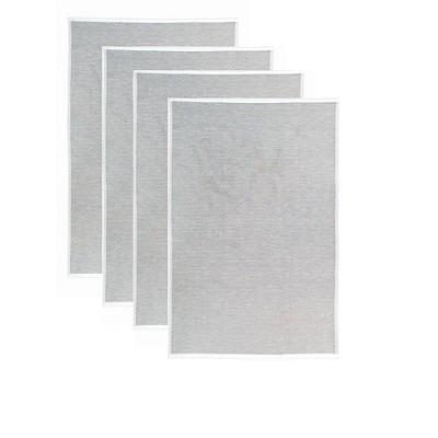 4pk Terry Honeycomb Kitchen Towels Gray - MU Kitchen