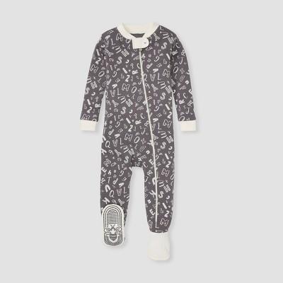 Burt's Bees Baby® Baby Boys' Alphabet Footed Pajama - White 18M