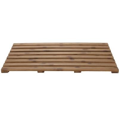 "Mind Reader 25"" x 15"" Luxury Shower Anti-Slip Environment Friendly Bamboo Bath Mat"