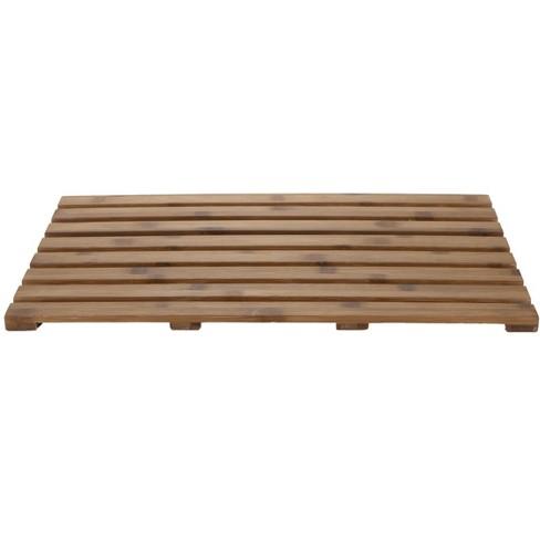 "Mind Reader 25"" x 15"" Luxury Shower Anti-Slip Environment Friendly Bamboo Bath Mat - image 1 of 4"