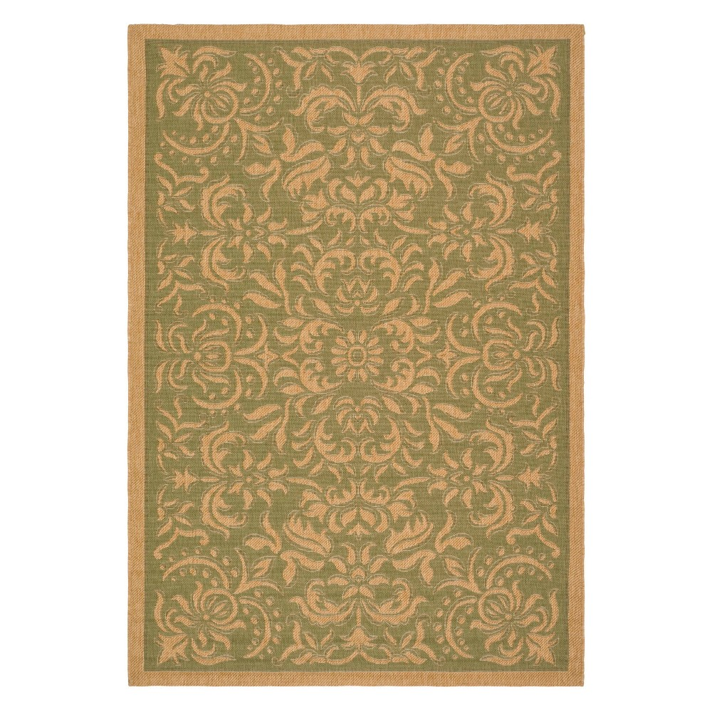 8'11 x 12' Durrant Outdoor Rug Green/Natural - Safavieh