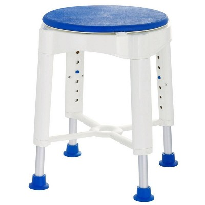 Rotating Bath Stool with Tray Blue - evekare