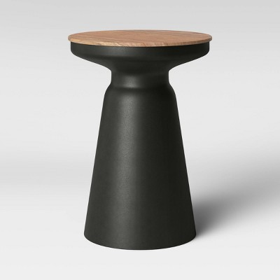 Gino Turned Drum Accent Table Black - Project 62™
