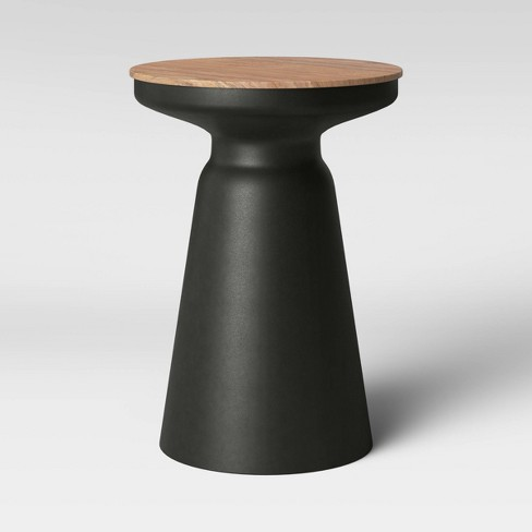 Gino Turned Drum Accent Table Black Project 62