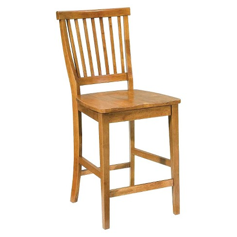 Arts and Crafts Counter Stool Hardwood/Cottage Oak - Home Styles