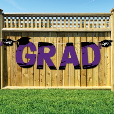 Big Dot of Happiness Purple Grad - Best is Yet to Come - Large Purple Graduation Party Decorations - GRAD - Outdoor Letter Banner