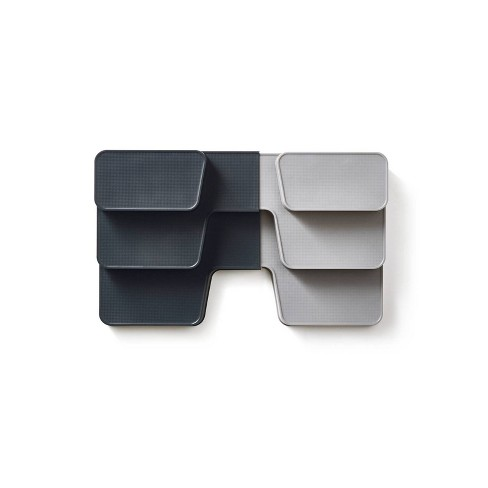 Joseph Joseph CupboardStore Compact tiered organizer with drawer - Gray - image 1 of 4