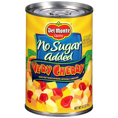 Del Monte No Sugar Added Very Cherry Mixed Fruit - 14.5oz
