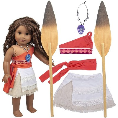 Dress Along Dolly Moana Inspired Outfit for American Girl Doll