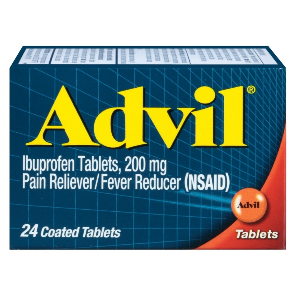 Advil Pain Reliever/Fever Reducer Tablets - Ibuprofen (Nsaid) - 24ct