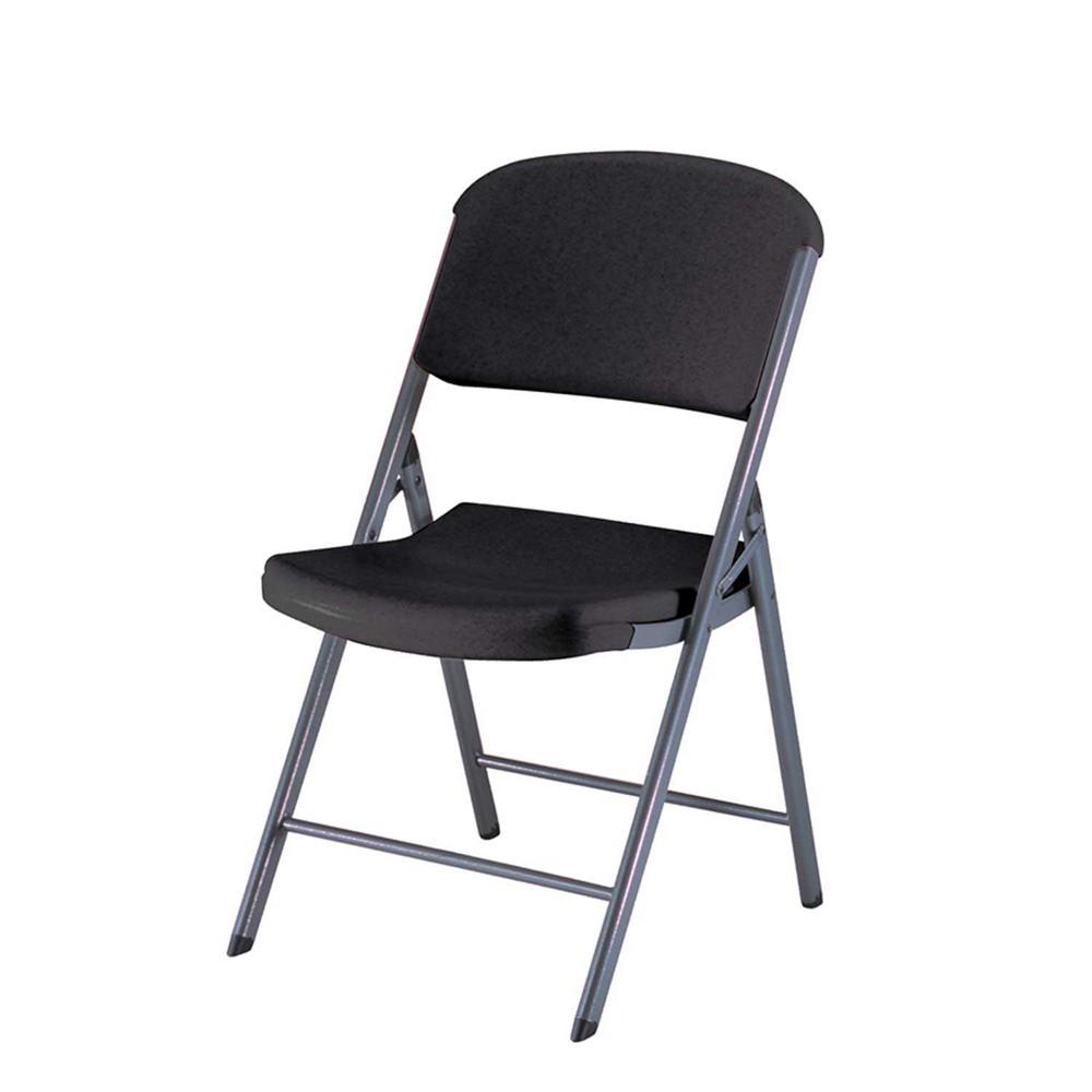 Image of 4 Pc Lifetime Heavy Duty Folding Chair - Black