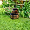 """23"""" Wooden Barrel Water Fountain - Brown - Backyard Expressions - image 2 of 2"""