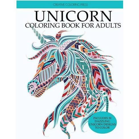 Unicorn Coloring Book - (Unicorns Coloring Books) by Creative Coloring &  Adult Coloring Books
