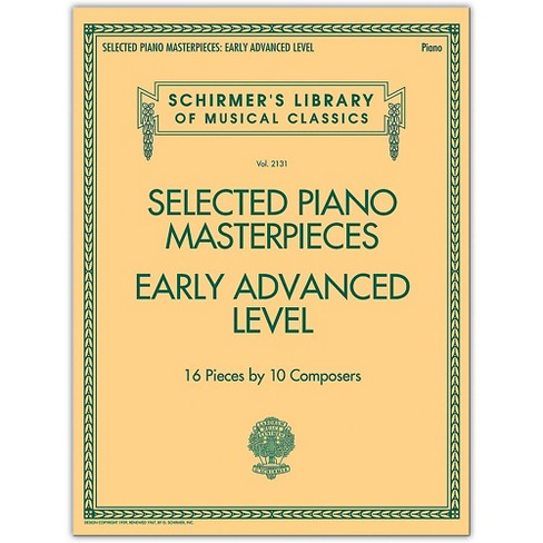 G. Schirmer Selected Piano Masterpieces - Early Advanced Schirmer's Library Of Musical Classics Piano Collection - image 1 of 1
