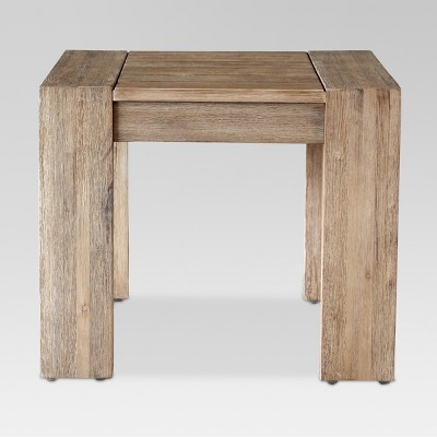 Montpelier Wood Patio Side Table Natural - Smith & Hawken™