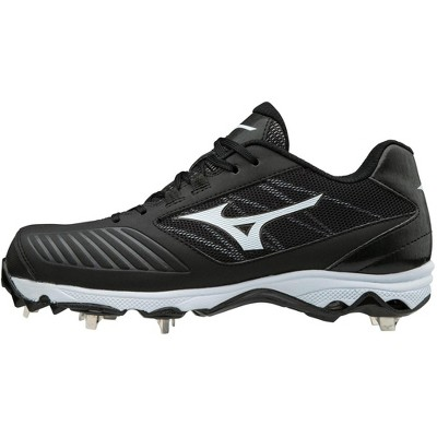 Mizuno 9-Spike Advanced Sweep 4 Low Womens Metal Softball Cleat Womens Size 8.5 In Color Black-White (9000)