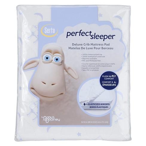 Serta Perfect Sleeper Deluxe Crib Mattress Pad Target