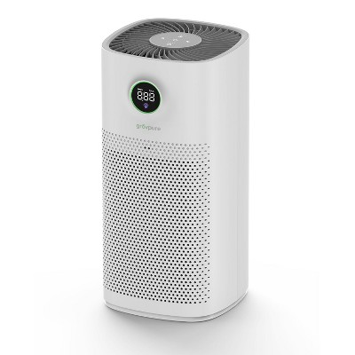 Aspen Quiet Air Purifier for Large Room with UVC Light, H13 True HEPA Filter, and Activated Carbon for Dust, Pollen, Smoke 2500 sqft Coverage